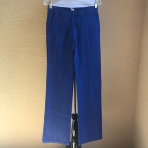 NWT True Royal blue cotton trousers with texture